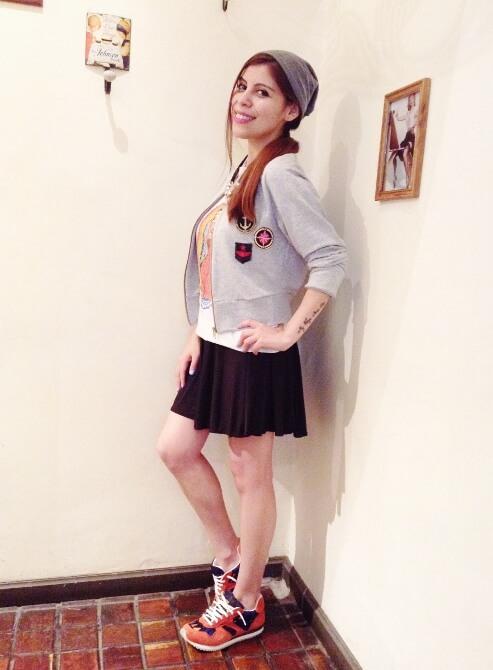 gray-cotton-jacket-beanie-skater-skirt-teen-fashion