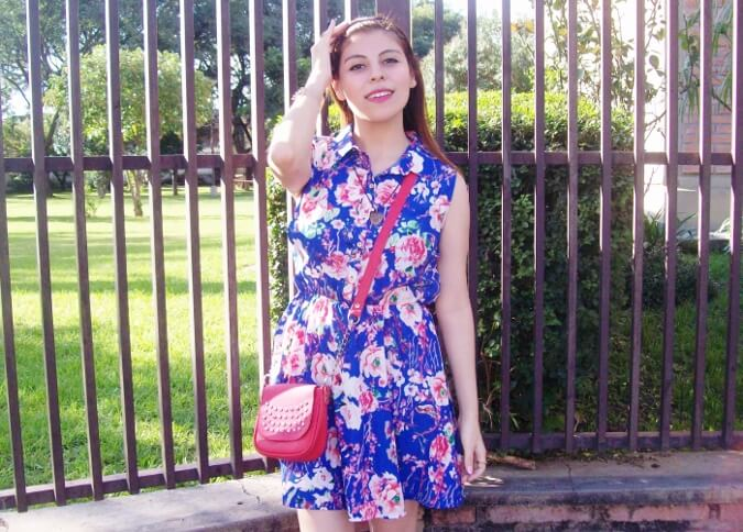 blue-floral-dress-pink-ballerinas-streetstyle-coral-girly-feminine-ladylike08