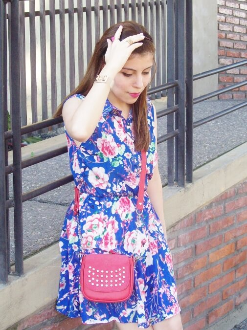 blue-floral-dress-pink-ballerinas-streetstyle-coral-girly-feminine-ladylike11