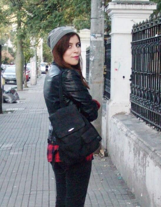 tartan-shirt-faux-leather-biker-beanie-fall2015-streetstyle06
