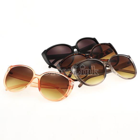 Fashion Unisex Gradient Lens Oversized Round Sunglasses Plastic Frame