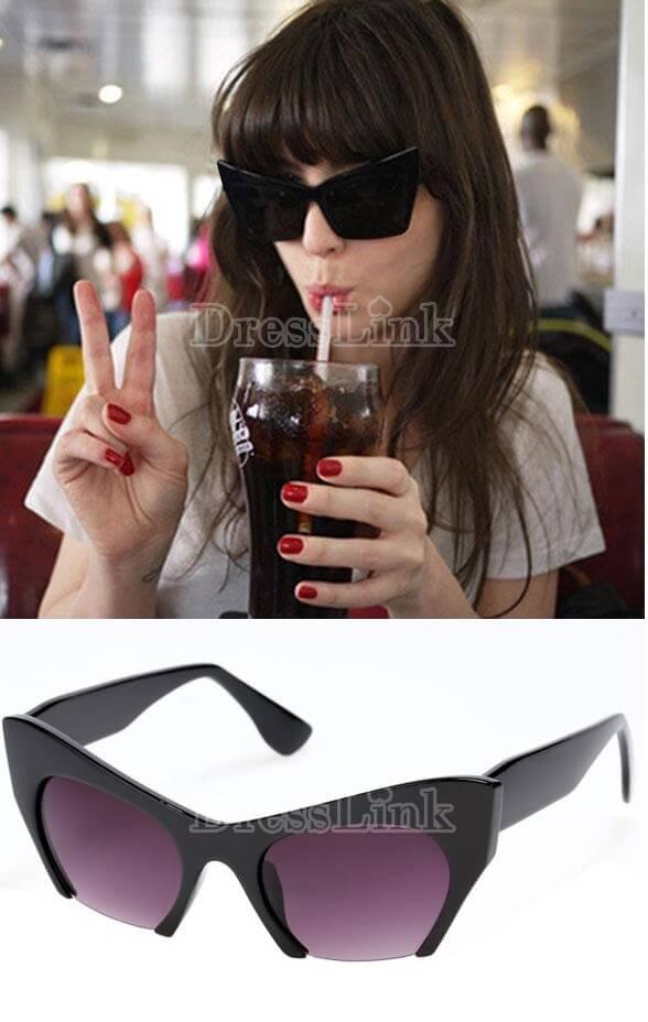 Hot Fashion Women Cute Plastic Frame Oval Lens Reflective Outdoor Beach Casual Sunglasses