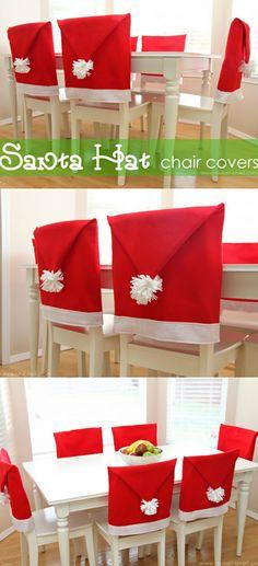 19 - diply web - Santa Hat Chair Covers