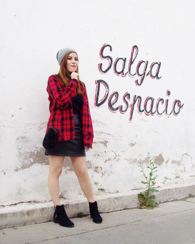 tartan-plaid-shirt-leather-mini-skirt-black-turtleneck-fall2015-ankle-boots04