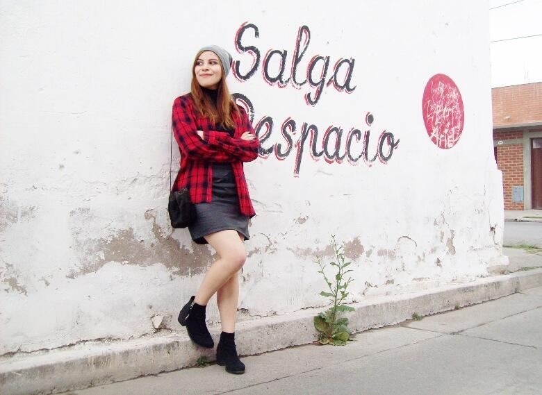 tartan-plaid-shirt-leather-mini-skirt-black-turtleneck-fall2015-ankle-boots13