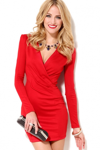 glamorous-surplice-bodice-dress