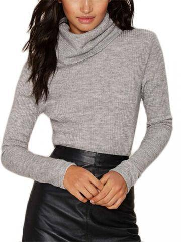 Women Turtleneck Long Sleeve T-Shirts