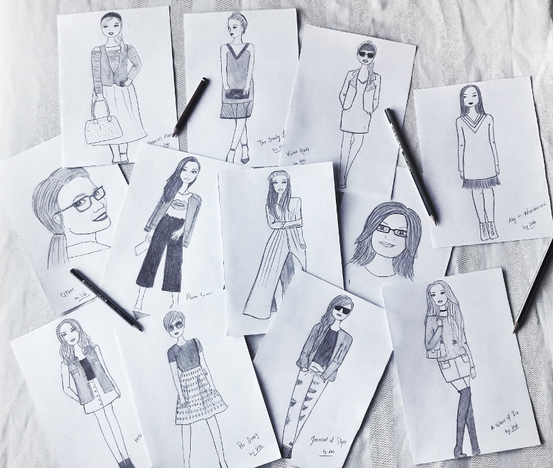13-fashion bloggers illustration and sketches by deb