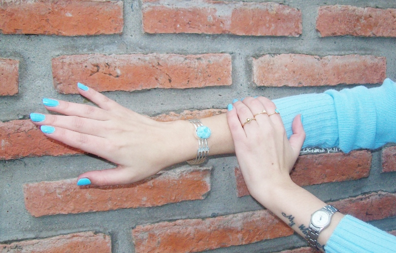 Larimar com atlantis stone healing gemstones larimar bracelet cuff turquoise accessories summer 2016 trend deborah ferrero style by deb 018