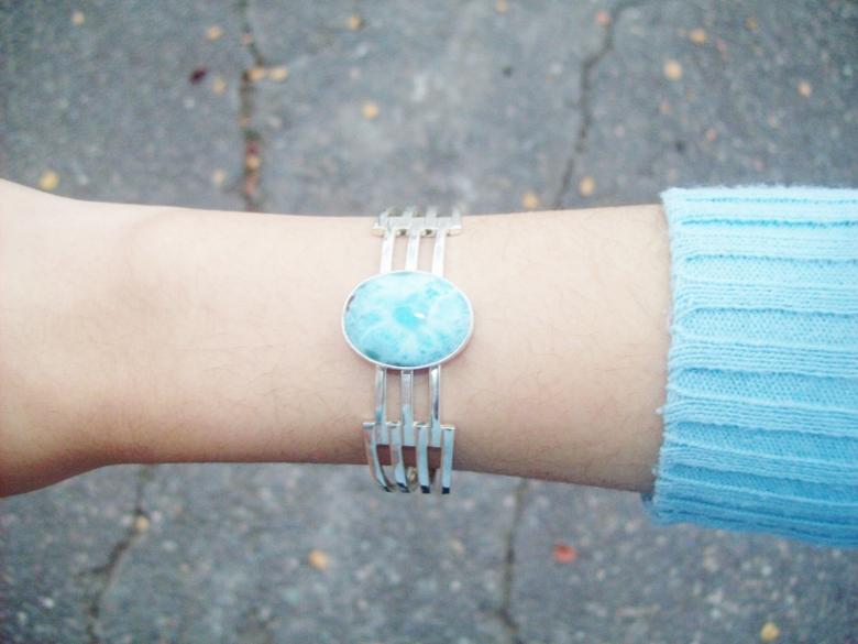 Larimar com atlantis stone healing gemstones larimar bracelet cuff turquoise accessories summer 2016 trend deborah ferrero style by deb 17