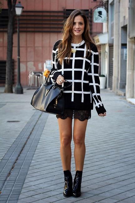 daytime2 - checkered sweatershirt over slip dress fashion blogger streetstyle how to wear a slip dress srping summer 2016 trend