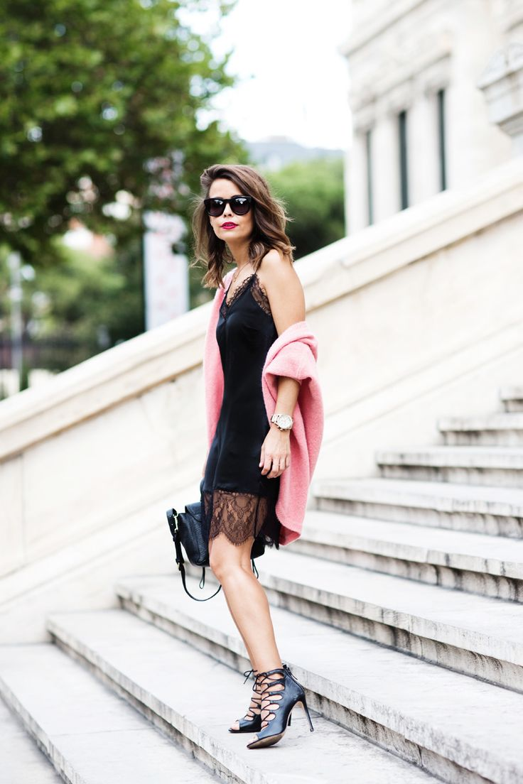 night2 - lbd little black dress sip dress lace hem details fashion blogger streetstyle how to wear slip dress trend 2016