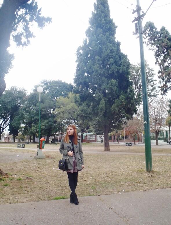 olive green parka animal print skater mini skirt black tights fall winter 2016 trends deborah ferrero style by deb newchic luna cat ear bag05