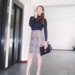 BRINGIN' SEXY BACK: ANIMAL PRINT SKIRT + NUDE LACE-UP HEELS