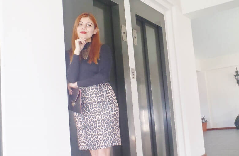 animal print pencil skirt black turtleneck zaful shoes laceup nude stilettos newdress leather clutch office chic style by deb deborah ferrero06