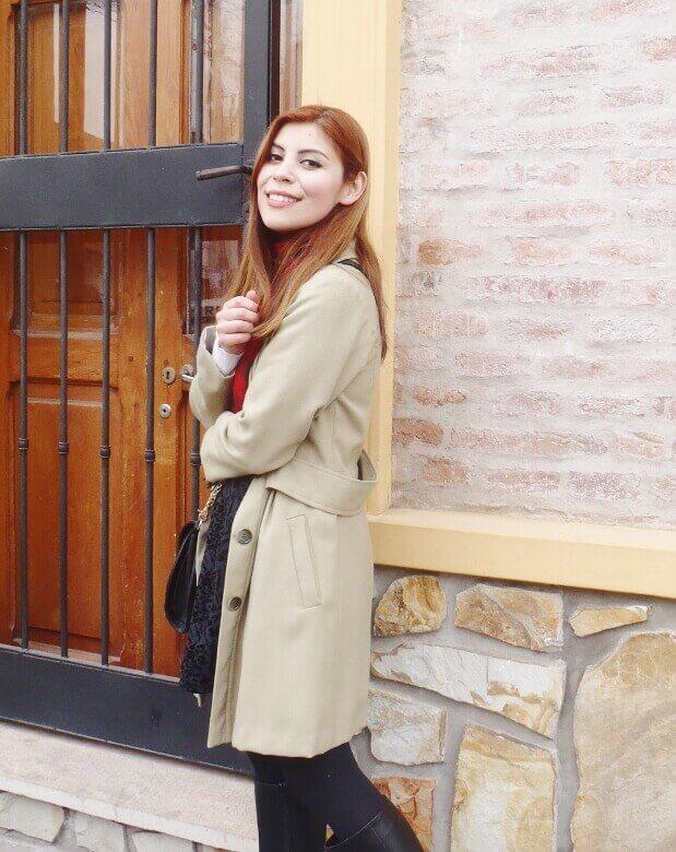 camel coat red tartan plaid scarf riding boots black skirt winter 2016 trends deborah ferrero style by deb09