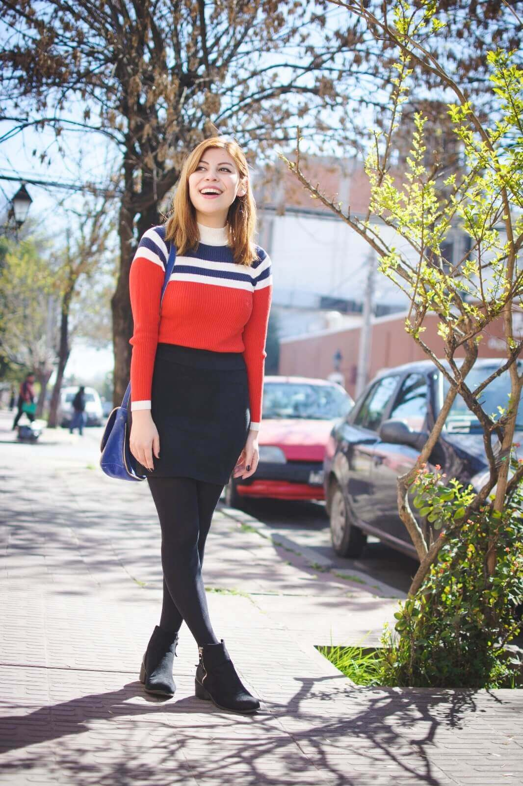 red-blue-and-white-striped-turtleneck-black-mini-skirt-tights-ankle-boots-deborah-ferrero-style-by-deb-fall-2016-trends07