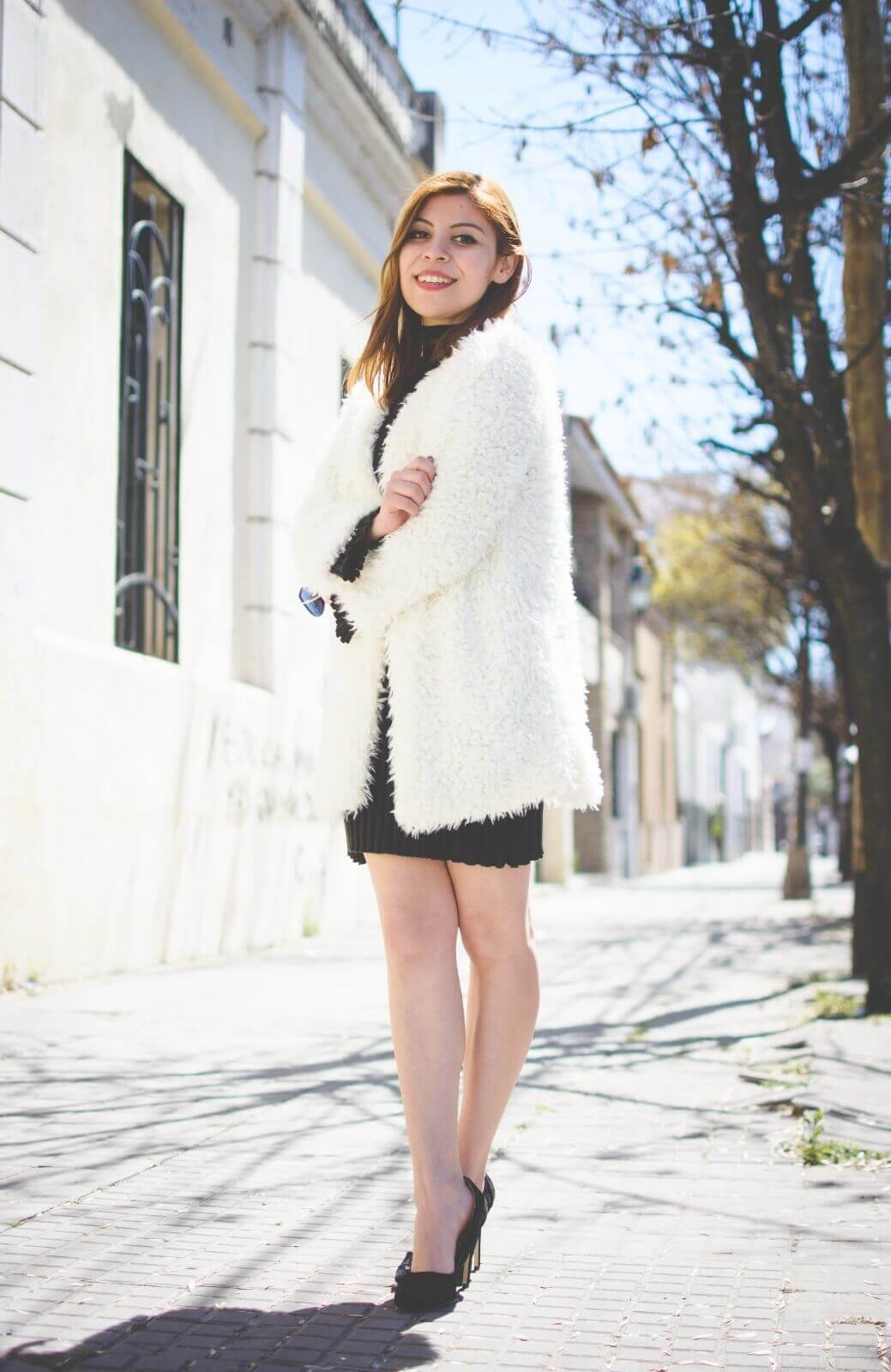 white-fluffy-coat-newchic-fall-little-black-dress-zaful-shoes-gamiss-sunglasses-deborah-ferrero-style-by-deb02