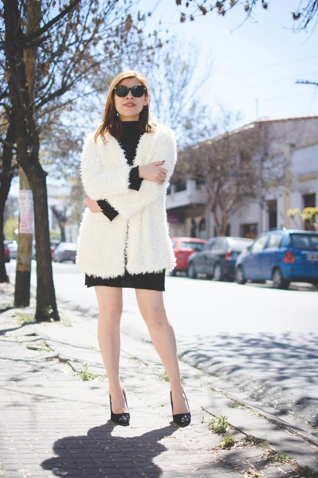 white-fluffy-coat-newchic-fall-little-black-dress-zaful-shoes-gamiss-sunglasses-deborah-ferrero-style-by-deb07