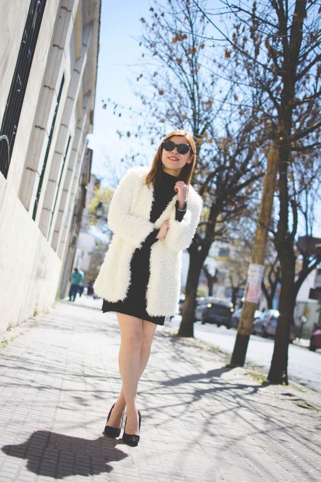 white-fluffy-coat-newchic-fall-little-black-dress-zaful-shoes-gamiss-sunglasses-deborah-ferrero-style-by-deb13