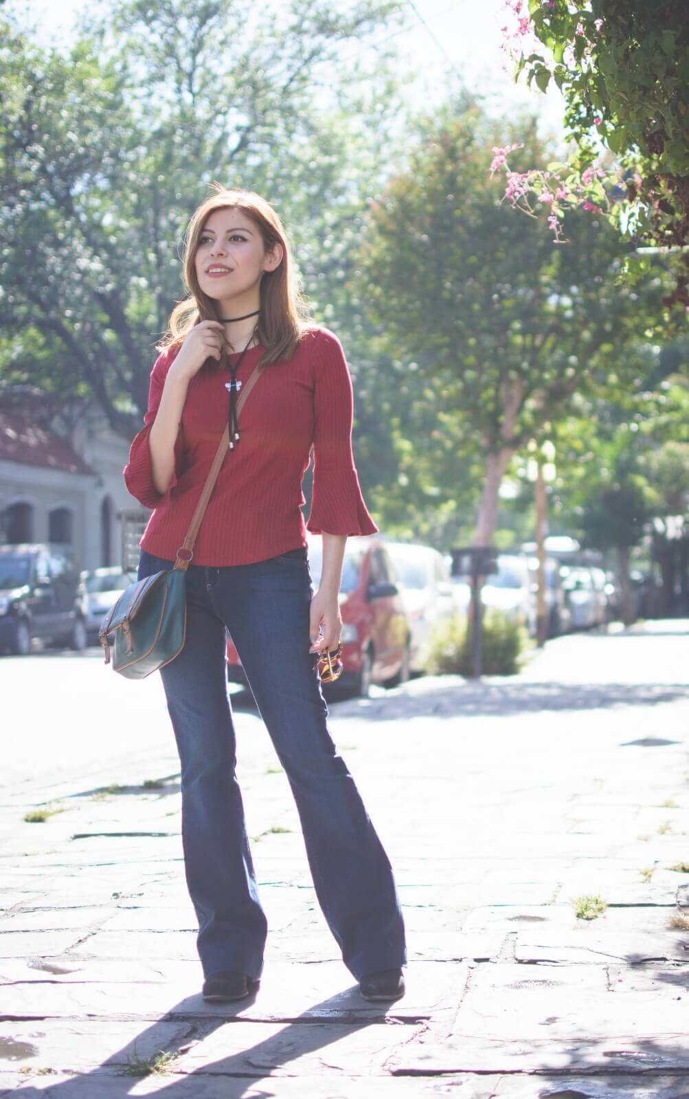 red-bell-sleeve-fall-2016-top-flared-jeans-deborah-ferrero-style-by-deb001
