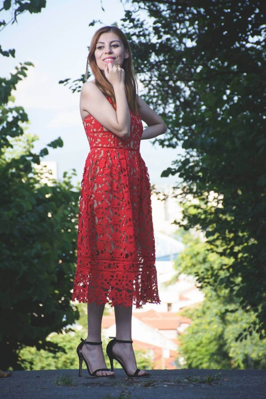 zaful red lace crochet midi lenght dress valentines day outfit ideas summer 2017 trends deborah ferrero style by deb05