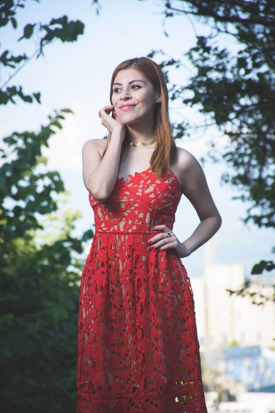 zaful red lace crochet midi lenght dress valentines day outfit ideas summer 2017 trends deborah ferrero style by deb07