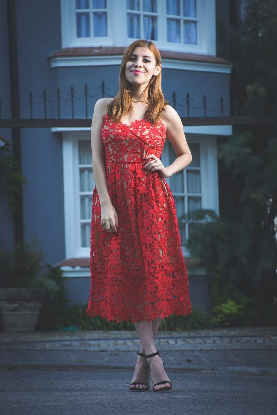 zaful red lace crochet midi lenght dress valentines day outfit ideas summer 2017 trends deborah ferrero style by deb10