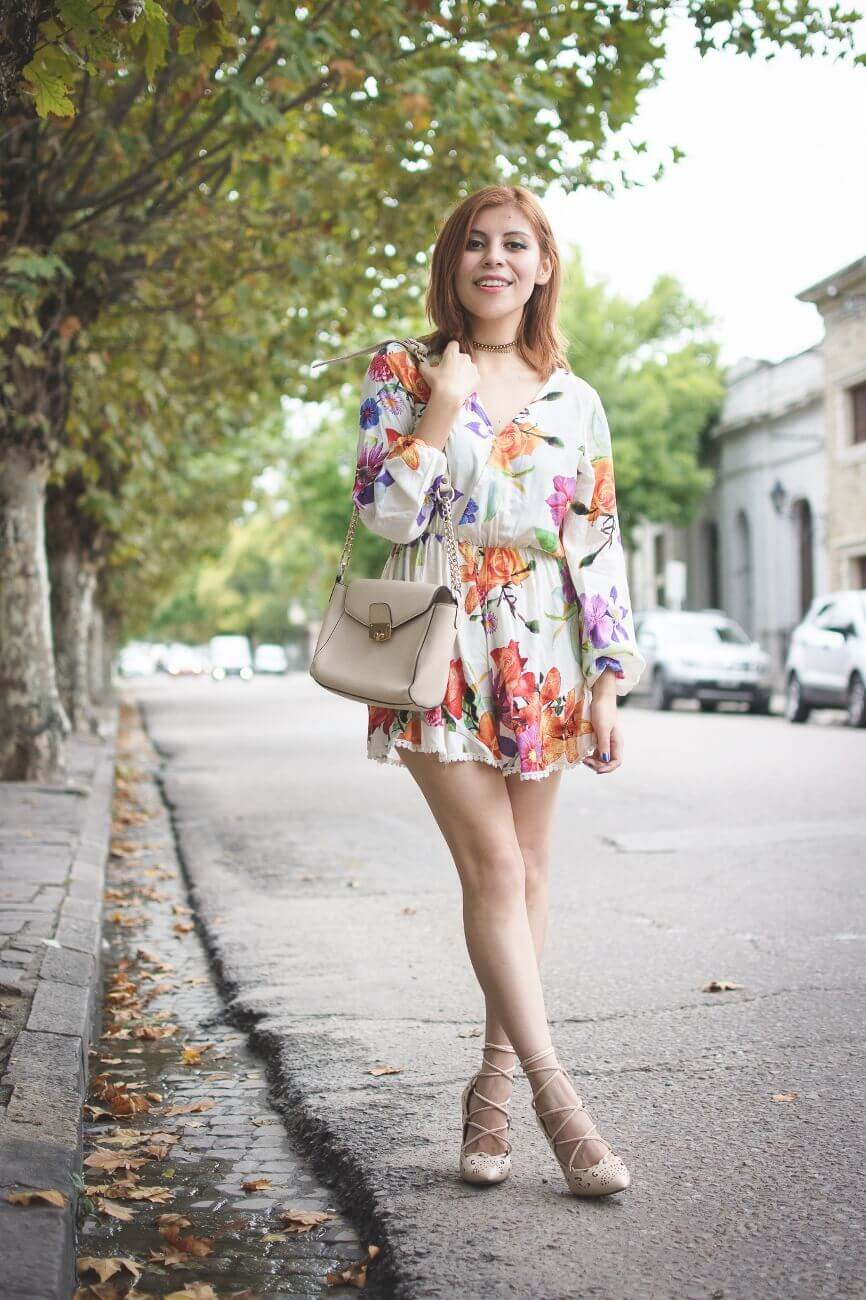 zaful floral romper nude lace up stiletto shoes laser cut pumps deborah ferrero streetstyle salta style by deb blogger argentina08