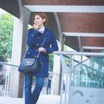 BLUE COAT + FLARE JEANS