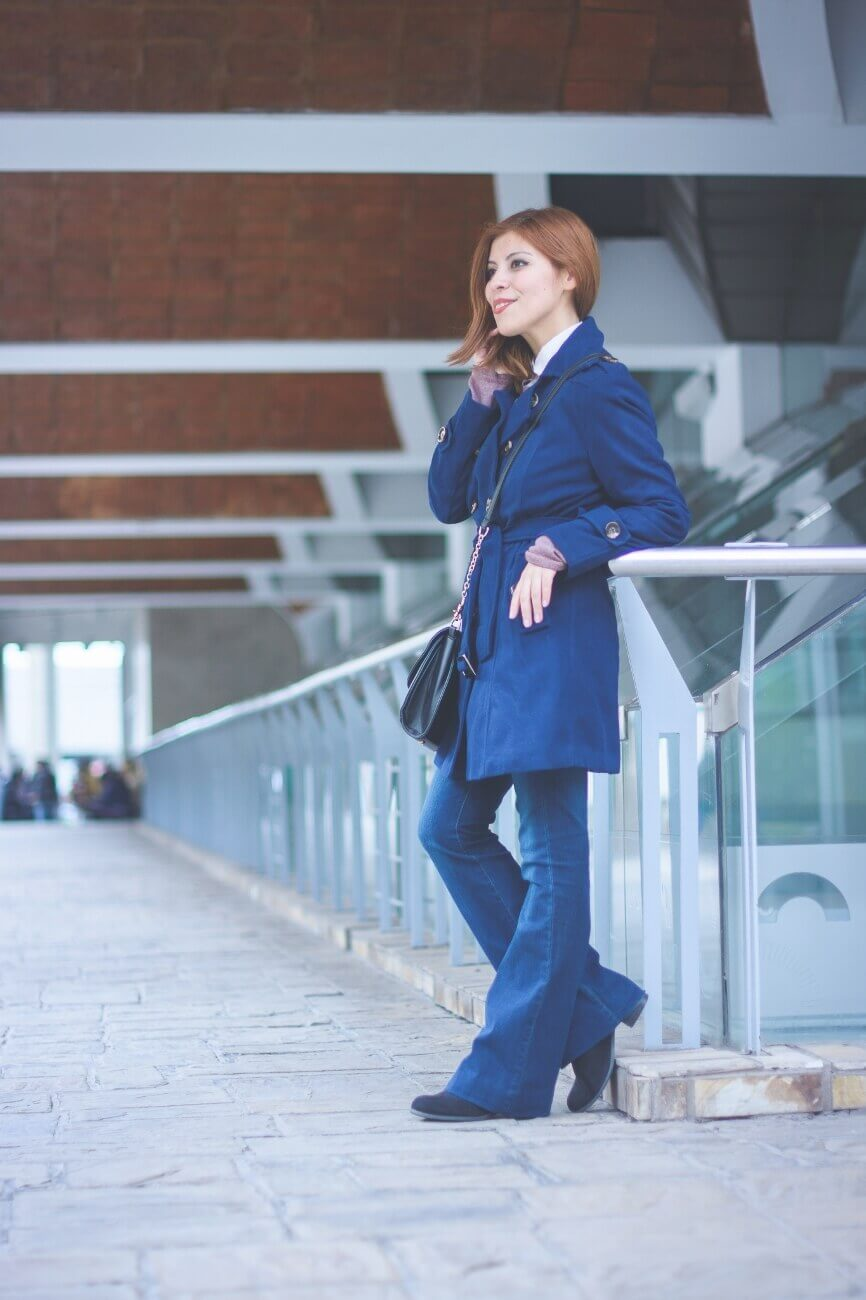 lightinthebox blue coat flare jeans deborah ferrero salta streetstyle style by deb