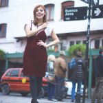 GRUNGE 2.0: VELVET SLIP DRESS & T-SHIRT