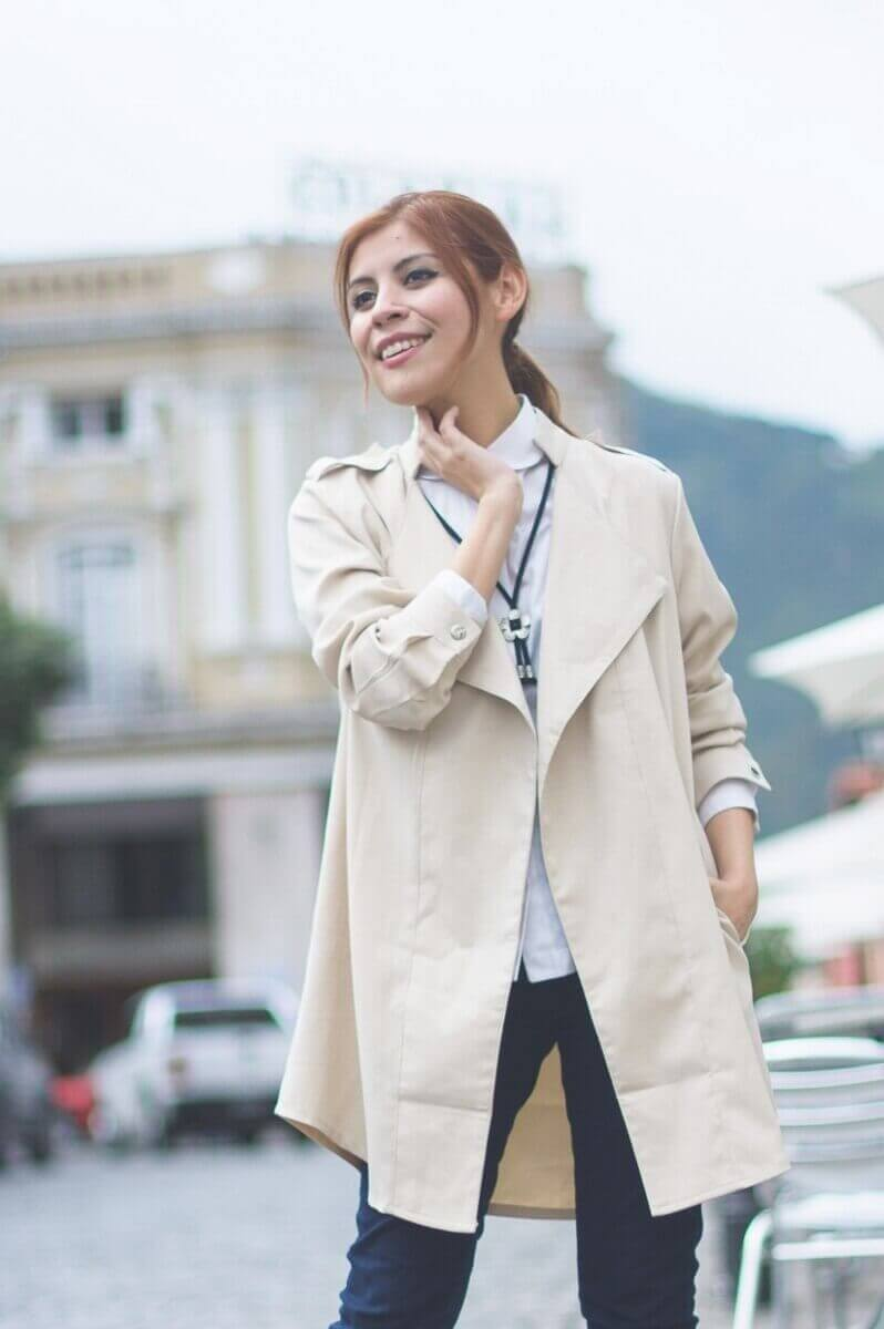 lightinthebox khaki trenchcoat review deborah ferrero style by deb