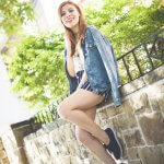 DENIM JACKET & PAPER BAG WAIST NAVY SHORTS