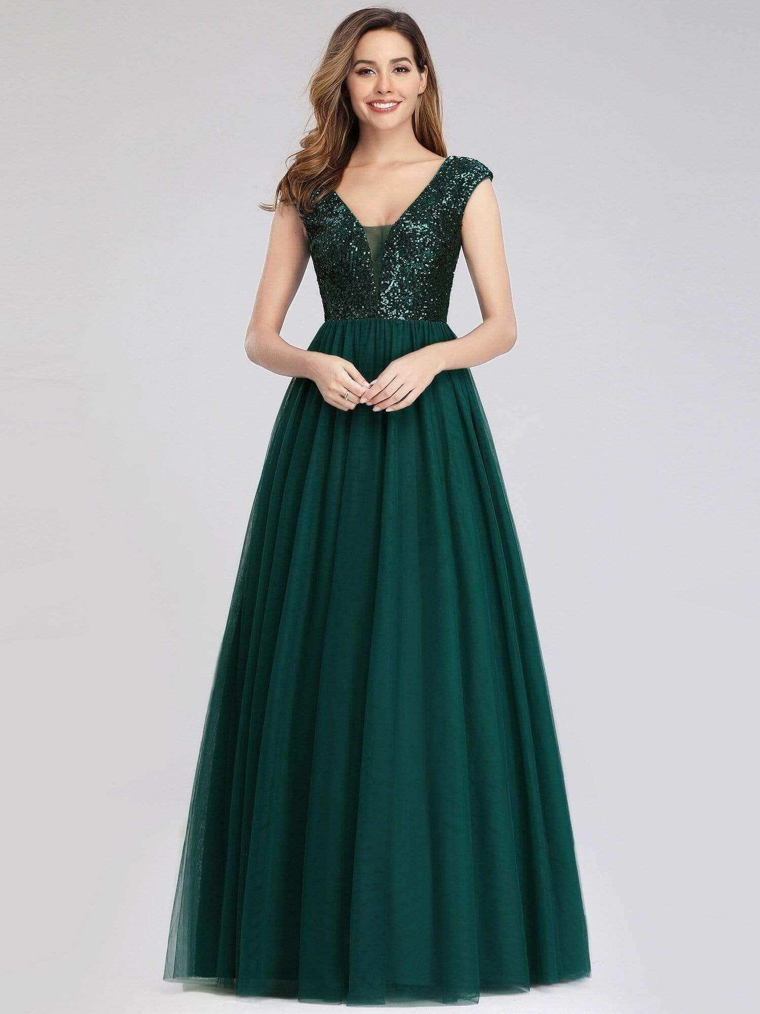 ever pretty emerald green expensive looking yet affordable cheap gown