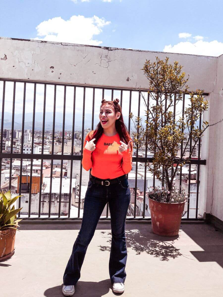 babe orange bodysuit by oeyes deborah ferrero blogger argentina salteña