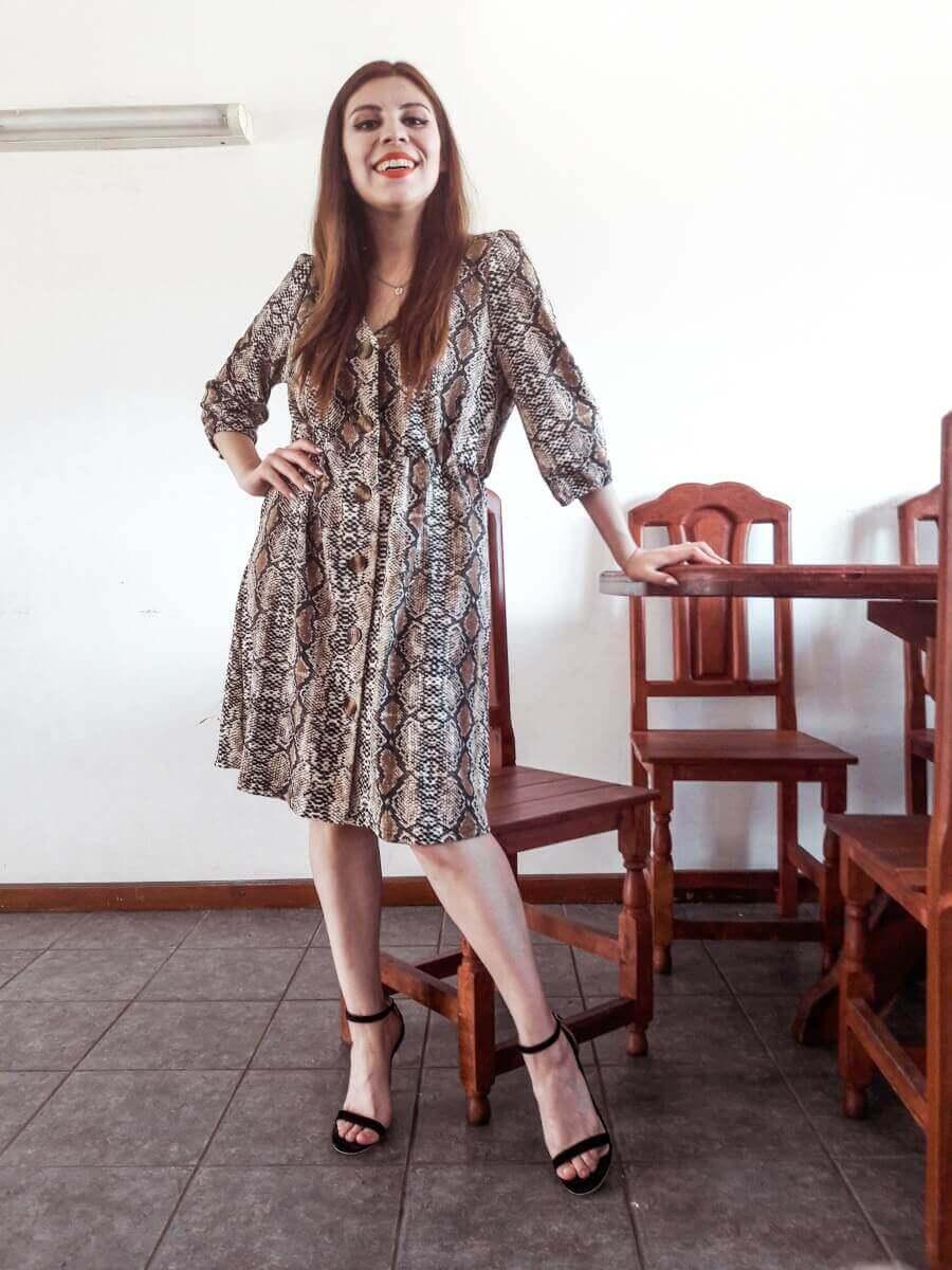 deborah ferrero snakeskin dress dresslily