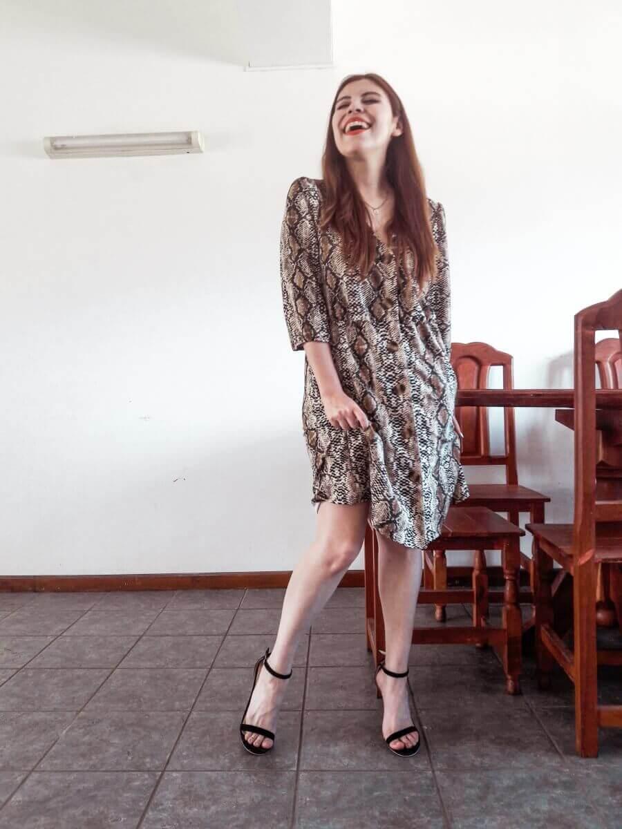 snakeskin dress dresslily deborah ferrero