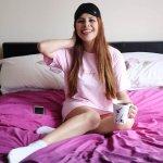 FEMMELUXE 'BABY GIRL' OVERSIZED T-SHIRT & RED LOUNGEWEAR