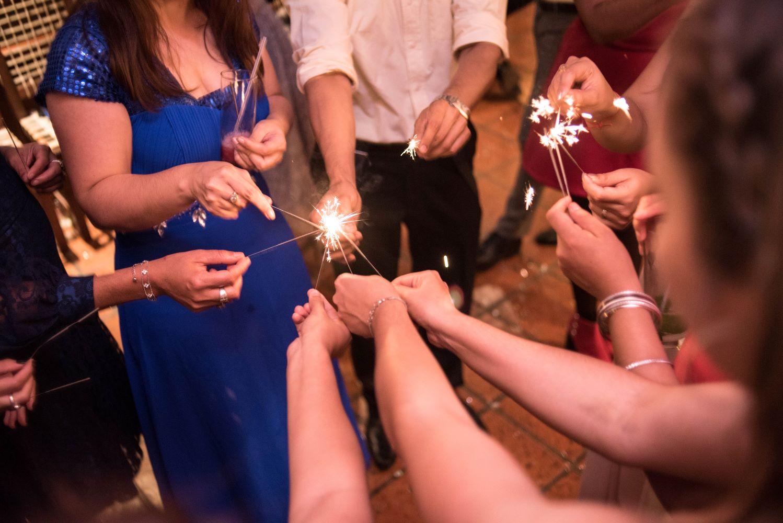 wedding sparkles guests details