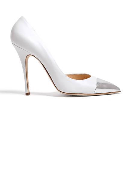 Duccio Venturi Bis Vitello Pointy Metallic Toe Heels