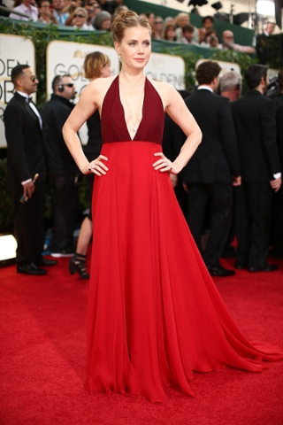 BEVERLY HILLS, CA - JANUARY 12:  71st ANNUAL GOLDEN GLOBE AWARDS -- Pictured: Actress Amy Adams arrives to the 71st Annual Golden Globe Awards held at the Beverly Hilton Hotel on January 12, 2014 --  (Photo by Christopher Polk/NBC/NBC via Getty Images)