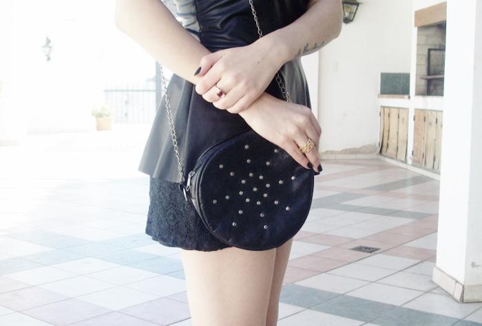 black-faux-leather-peplum-lace-shorts-streetstyle-blogger-summer2015 - 05