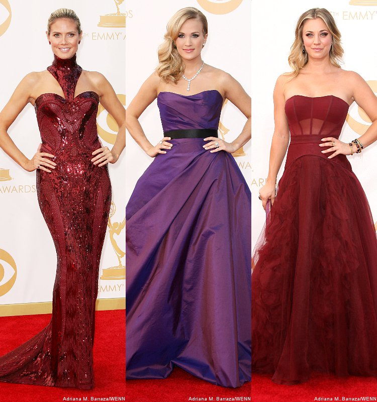 emmy-awards-2013-heidi-klum-carrie-underwood-and-kaley-cuoco-on-red-carpet