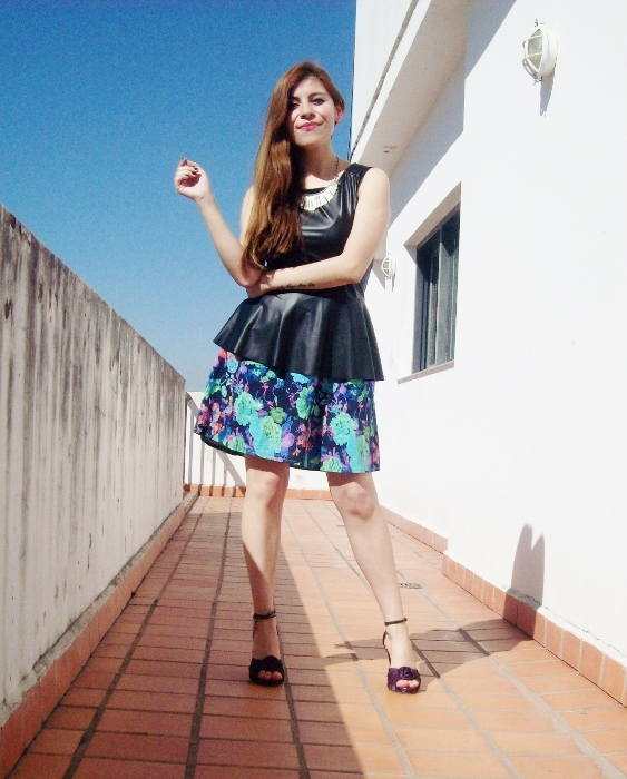 floral-skirt-faux-leather-peplum-top-streetstyle-summer2015-08