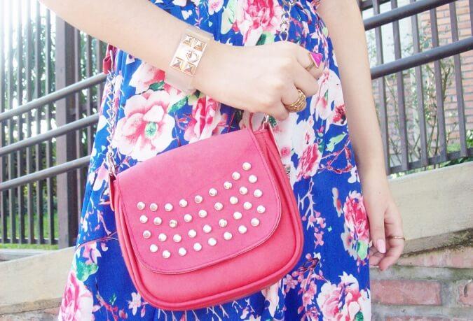blue-floral-dress-pink-ballerinas-streetstyle-coral-girly-feminine-ladylike07