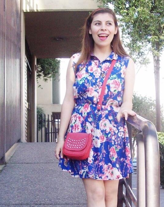 blue-floral-dress-pink-ballerinas-streetstyle-coral-girly-feminine-ladylike09