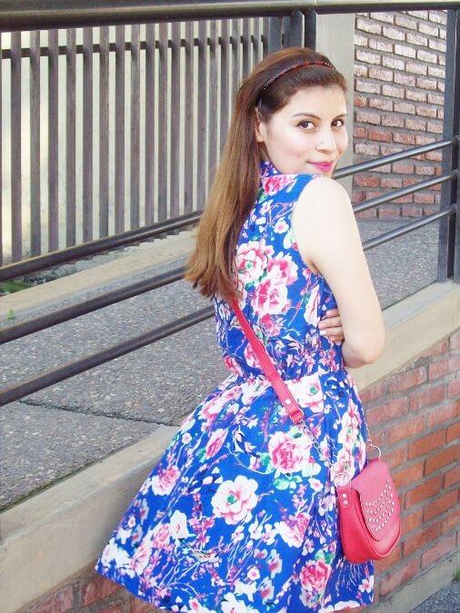 blue-floral-dress-pink-ballerinas-streetstyle-coral-girly-feminine-ladylike12