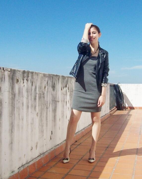 grey-dress-faux-leather-biker-jacket-bicolor-shoes-fall2015-streetstyle08