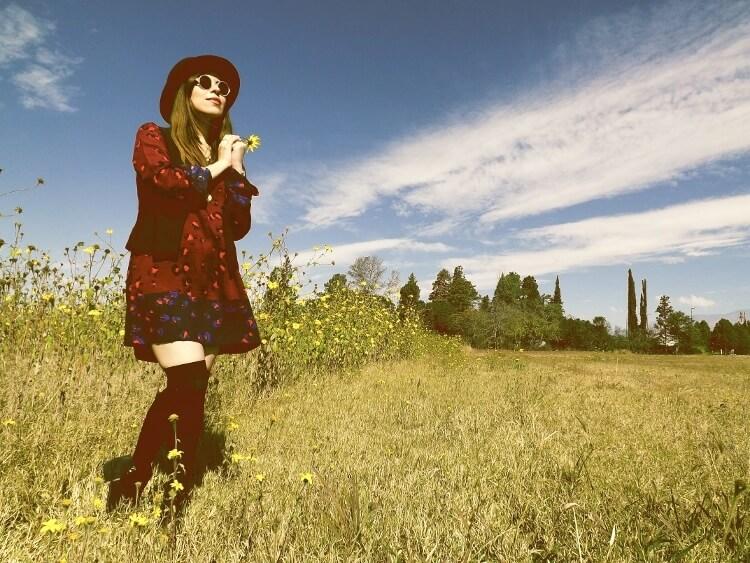 sixties-seventies-boho-hippie-trend-bohemian-dress-stockings-thigh-high-hat-vest-editorial-streetstyle14